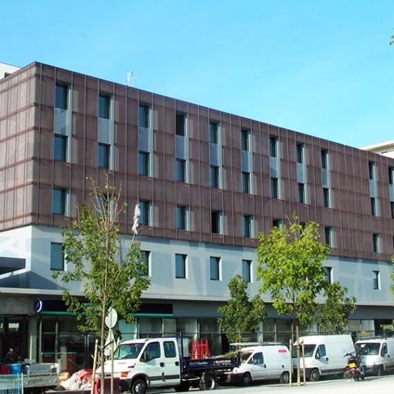 coanus façade bâtiment bureaux et logements